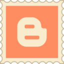 Retro Blogger Stamp Icon