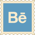 Retro Behance Stamp Icon
