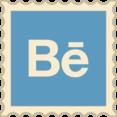 Retro Behance Stamp Icon