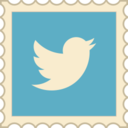 Retro Twitter Stamp Icon