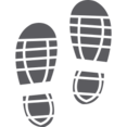 Tennis Shoe Prints Glyph Icon