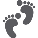 Footprints Glyph Icon