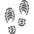 Dress Shoe Prints Glyph Icon