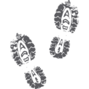 Muddy Shoe Prints Glyph Icon