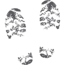 Muddy Footprints Glyph Icon