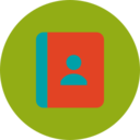Trendy Flat Address Book Icon