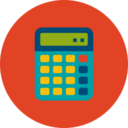 Trendy Flat Calculator Icon