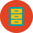 Trendy Flat Filing Cabinet Icon