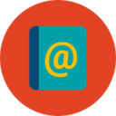 Trendy Flat Email Contact Icon