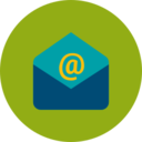 Trendy Flat Open Email Icon