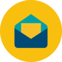 Trendy Flat Letter Icon