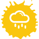 Rain Cloud Colorful Icon