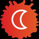 Crescent Moon Colorful Icon