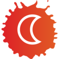 Crescent Moon Colorful Icon