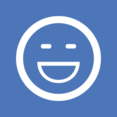 Big Smile Flat Emoticon Icon