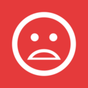 Sad Face Flat Emoticon Icon