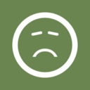 Disappointed Face Flat Emoticon Icon
