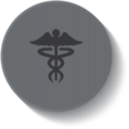 Caduceus Medical Button Icon