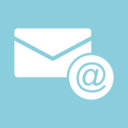Letter with @ Symbol Flat Email Icon