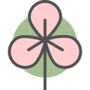 Flat Japanese Blossom Icon