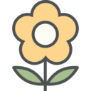 Flat Sunflower Icon