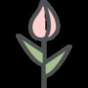 Flat Tulip Icon