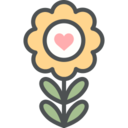Flat Yellow Flower Icon
