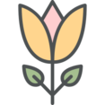 Flat Yellow Tulip Icon