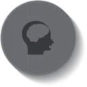 Brain Science Medical Button Icon