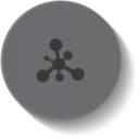 Molecule Medical Button Icon