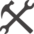 Glyph Hammer and Wrench Icon