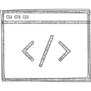 Handdrawn Coding Icon