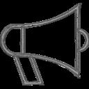 Handdrawn Megaphone Icon