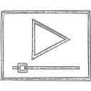 Handdrawn Video Player Icon
