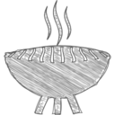 Handdrawn Grilling Icon
