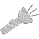 Handdrawn Flashlight Icon