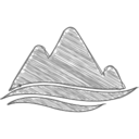 Handdrawn Mountains Icon