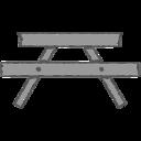 Handdrawn Picnic Bench Icon