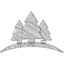 Handdrawn Trees Icon