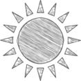Handdrawn Sun Icon