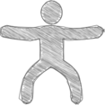 Jumping Jacks Scribble-Style Icon