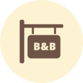Bed & Breakfast Retro Icon