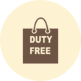 Duty Free Shopping Bag Retro Icon