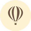 Hot Air Balloon Retro Icon