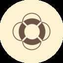 Life Preserver Retro Icon