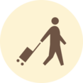Person with Suitcase Retro Icon