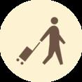 Person with Suitcase Retro Icon