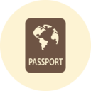 Passport Retro Icon