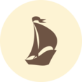 Sail Boat Retro Icon