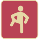 Vintage Knee Stretch Icon